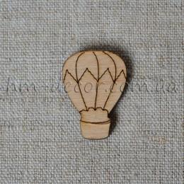 Воздушный шар деревянный мини 20*30 мм