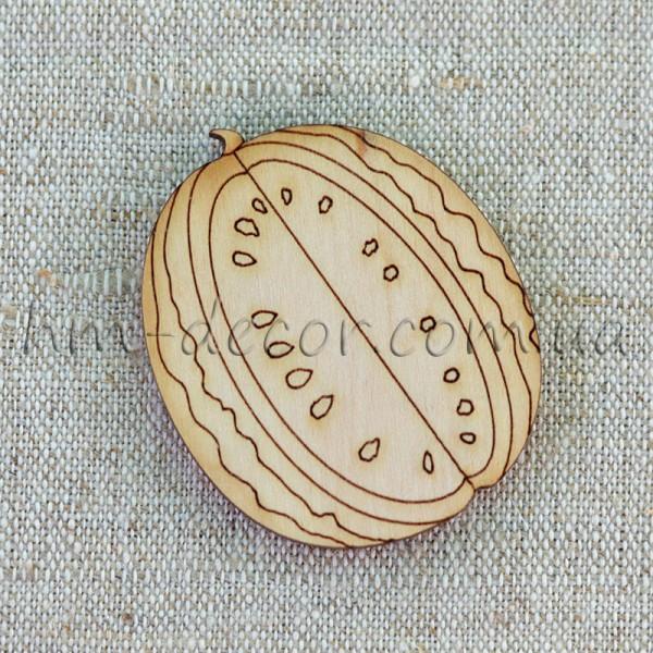 Арбуз - деревянная заготовка для рукоделия (1) 42*46 мм