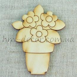 Букет цветов (3) на подставке 9*7 см