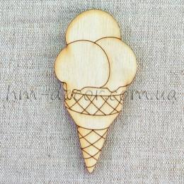 Деревянная фигурка - мороженое 85*43 мм