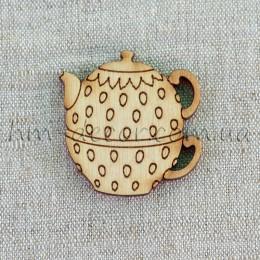Деревянная заготовка чайник (3) 63*63 мм