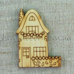 Деревянная заготовка домик (2) 70 мм