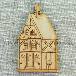Деревянная заготовка домик (5) 85 мм