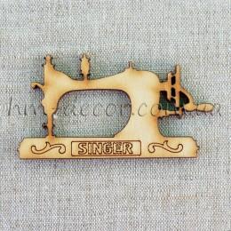 Деревянная заготовка швейная машинка 45*87 мм