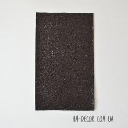 Экокожа глиттер крупный черный 20*30 см