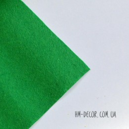 Фетр зеленый 20*25 см 1 мм