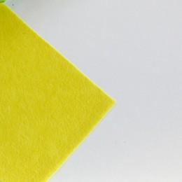 Фетр желтый 20*25 см 1 мм