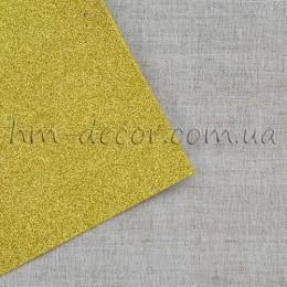 Фоамиран глиттер золото 20*30 см
