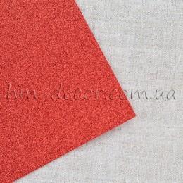 Фоамиран глиттер красный  20*30 см