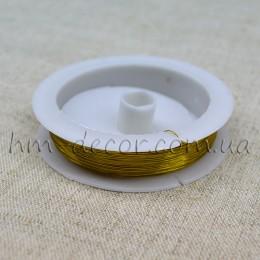 Проволока флористическая золото 0,3 мм 50 м