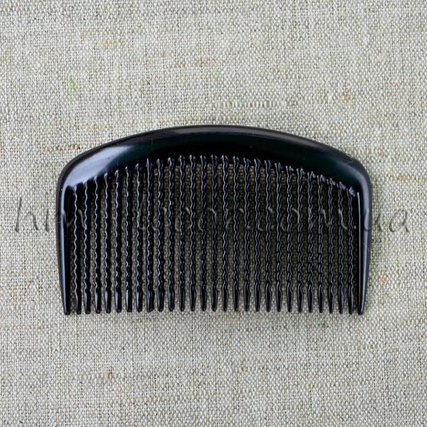 Гребень для волос черный пластиковый дуга 9/5 см