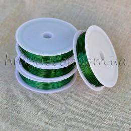 Проволока флористическая зеленая 0,3 мм 50 м