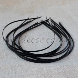 Ободок металлический черный 5 мм