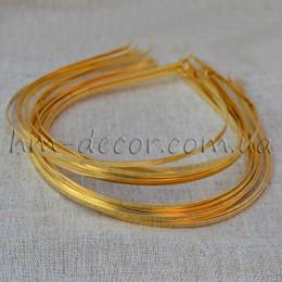 Ободок металлический золотой 4 мм