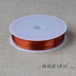 Проволока флористическая коричневая 0,3 мм 50 м