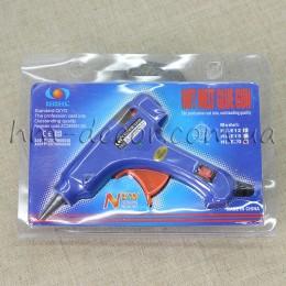 Пистолет клеевой синий с выключателем 7 мм
