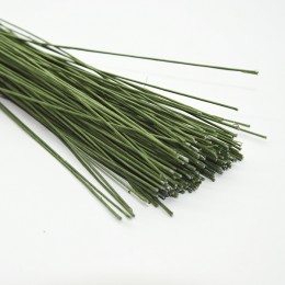 Проволока в зеленой тейп-ленте 60 см 1 см 5 шт.