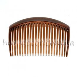 Гребень для волос коричневый пластиковый дуга 9/5 см