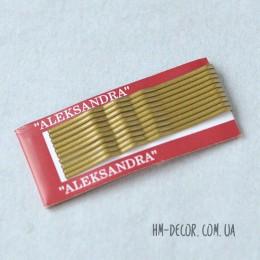 Невидимка металлическая золото 5 см 10 шт.