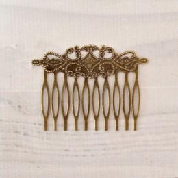 Гребень для волос античная бронза 6/4 см