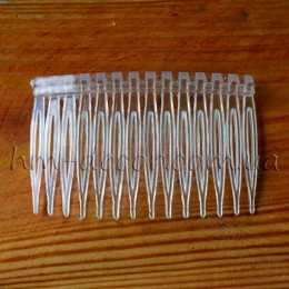 Заготовка-гребень для волос прозрачный пластиковый 7/4,5 см