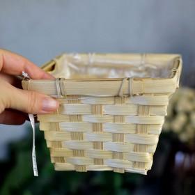Кашпо бамбуковое натуральное 10*14*14 см
