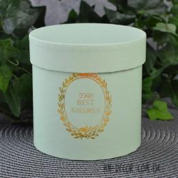 Коробка круглая нежно-зеленая 12*12 см