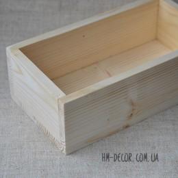 Кашпо деревянное прямоугольное 22*12*7 см