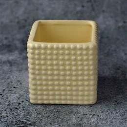 Кашпо керамическое квадратное ваниль 75х75 мм
