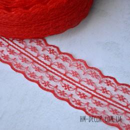 Кружево Аллюр красное 4,5 см 1 м