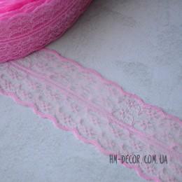 Кружево Аллюр розовое 4,5 см 1 м