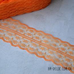 Кружево Аллюр оранжевое 4,5 см 1 м