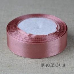 Лента атласная 2,5 см пепельно-розовая 1 м