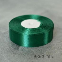 Лента атласная 2,5 см зеленая 1 м