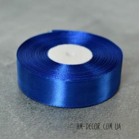 Лента атласная 2,5 см синяя 1 м