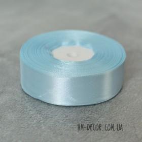 Лента атласная 2,5 см голубая 1 м