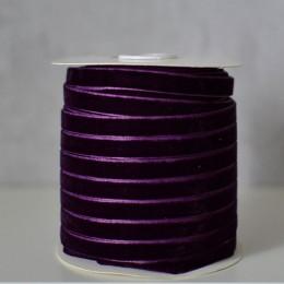 Лента бархатная  1 см темно-фиолетовая 1 м