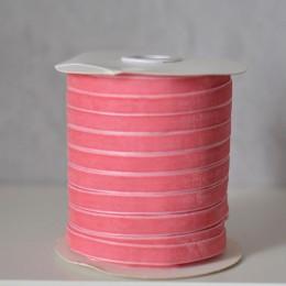 Лента бархатная  1 см розовая 1 м