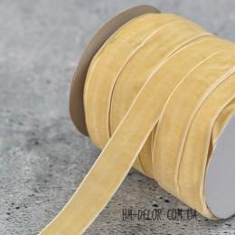 Лента бархатная ваниль 2 см 1 м