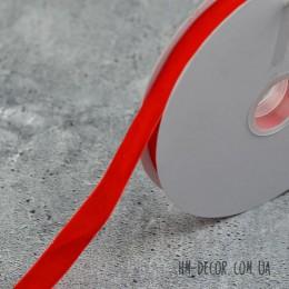 Лента бархатная красная 2 см 1 м