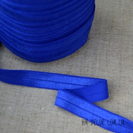 Бейка стрейч синяя 1,5 см 1 м