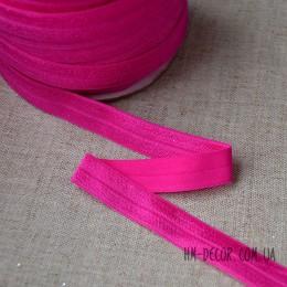 Бейка стрейч розовая 1,5 см 1 м