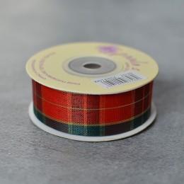 Лента шотландка (002) 2,5 см 1 м
