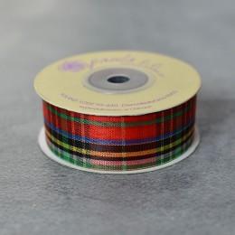 Лента шотландка (001) 2,5 см 1 м