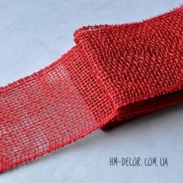 Лента-мешковина красная 8,5 см 1 м