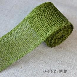 Лента-мешковина оливковая 6 см 1 м