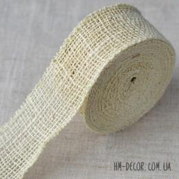 Лента-мешковина светлая 6 см 1 м