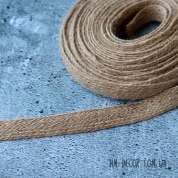 Тесьма из мешковины коричневая 1,5 см 1 м