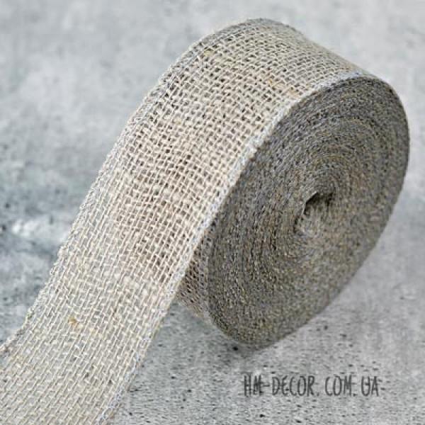 Лента-мешковина серая 6 см 1 м