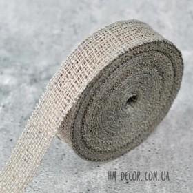 Лента-мешковина серая 3.5 см 1 м